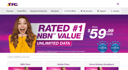 tpg.com.au - internet broadband provider for nbn adsl2 fttb and mobile