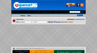 tr-opencart.com - opencart türkiye destek sitesi ,e-ticaret yazılımı destek paylaşım forumu