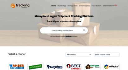 tracking.my - track your parcel - malaysia´s largest shipment tracking platform - tracking.my
