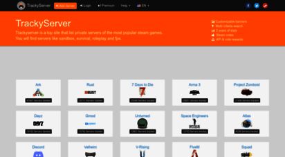 trackyserver.com - trackyserver - servers list, search, ranking, banners