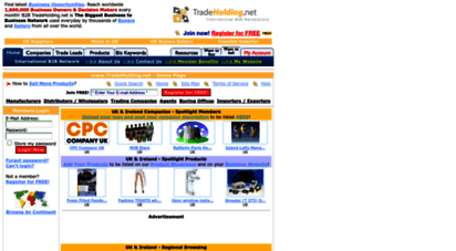 tradeholding.net - company directory - b2b marketplace - trade leads and product catalogs