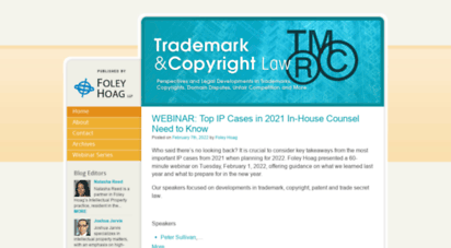 trademarkandcopyrightlawblog.com - trademark and copyright law