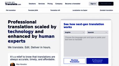 translate.com - free online translator - translate.com