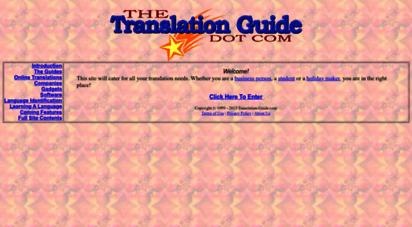 translation-guide.com - translation guide