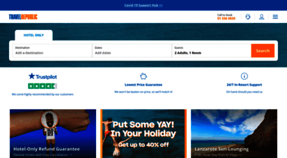 travelrepublic.ie - cheap hotels, flights and holidays from travel republic
