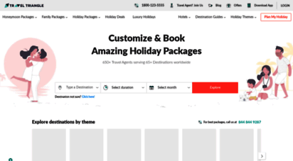 traveltriangle.com - personalized holiday packages  customized tour packages from multiple local and trusted travel agents