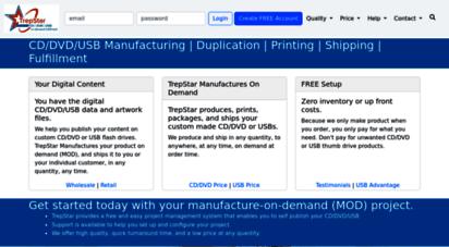trepstar.com - short run, on demand cd, dvd, usb, manufacturing & fulfillment service