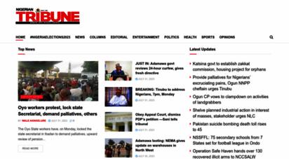 tribuneonlineng.com - breaking news in nigeria today - tribune online  tribune online