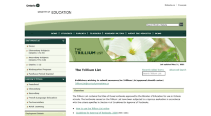 trilliumlist.ca - trillium list  home page