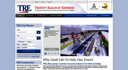 trinityrailwayexpress.org - home - trinity railway express tre