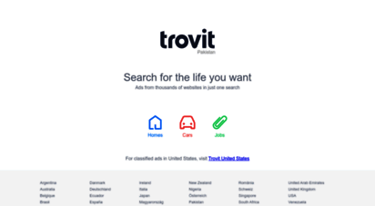 trovit.com.pk - trovit - a search engine for classified ads of real estate, jobs and cars
