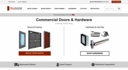 trudoor.com - commercial steel doors, hollow metal doors, fire-rated doors, hardware