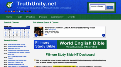 truthunity.net - are you exploring unity´s classic teachings?  truth unity