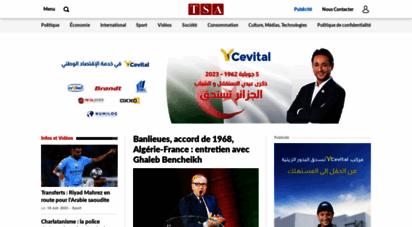 tsa-algerie.com - tsa — premier média francophone algérien sur internet