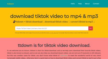 ttdown.org - download tiktok video in mp4 & mp3 formats free at ttdown.org