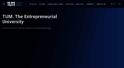 tum.de - the entrepreneurial university - tum