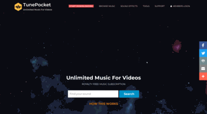 tunepocket.com - tunepocket - most affordable royalty free music subscription