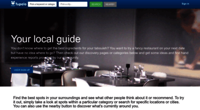 tupalo.co - tupalo.com - phone, map, review for restaurants, cafes, salons, shops
