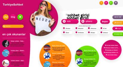 turkiyesohbet.net - türkiye sohbet chat odaları