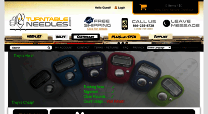 turntableneedles.com - record player needles, cartridges, belts & accessories