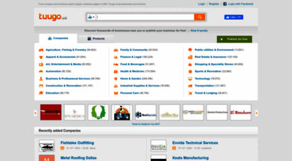 tuugo.us - free company and business search engine, business pages in usa  tuugo local businesses and services