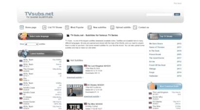 tv-subs.net - download tv show subtitles - tvsubs.net