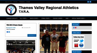 tvraa.com - thames valley regional athletics tvra - high school sports