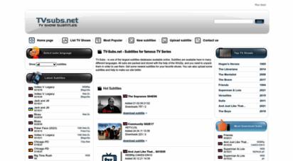 tvsubs.net - download tv show subtitles - tvsubs.net