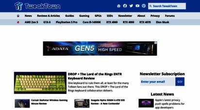 tweaktown.com - tweaktown: latest worldwide tech news & game reviews