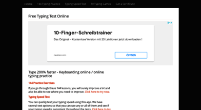 touch typing online