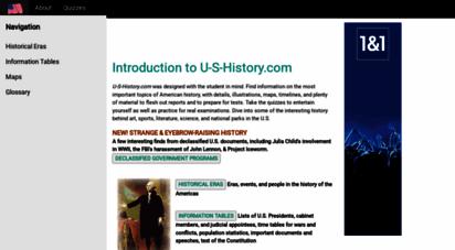 u-s-history.com - introduction to u-s-history.com