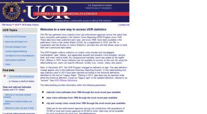 ucrdatatool.gov - uniform crime reporting statistics