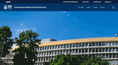 ufrj.br - universidade federal do rio de janeiro - universidade federal do rio de janeiro