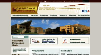 ul.edu.lb - lebanese university