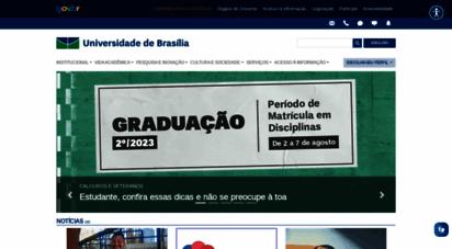 unb.br - unb - universidade de brasília - início