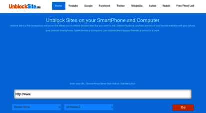unblocksite.org - unblock sites, proxy sites, free proxy  unblocksite.org