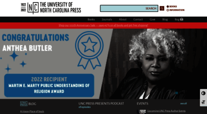 uncpress.org - the university of north carolina press - homepage