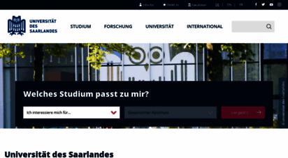 uni-saarland.de - universität des saarlandes: startseite