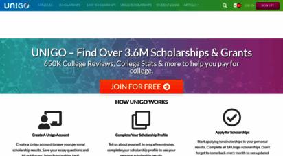 unigo.com - college matching and school reviews. your guide to college  unigo
