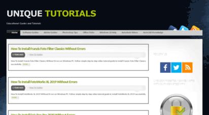 unique-tutorials.info - unique tutorials - educational guides and tutorials