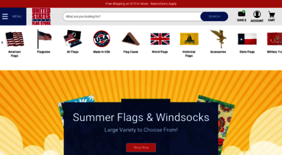 united-states-flag.com - buy us flags and flagpoles at united states flag store