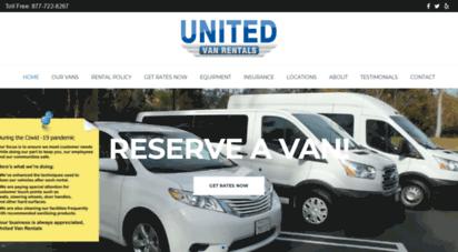 unitedvanrentals.com - united van rentals: orange county van rentals in lax, california, nevada and arizona airports