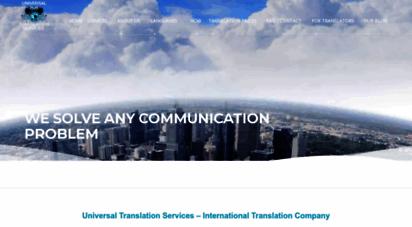 universal-translation-services.com - international translation company  universal translation services