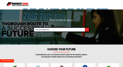 universitydunia.com - top colleges, universities, institutes, distance education and iti in india