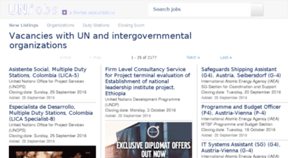 Welcome to Unjobs com - Job Vacancies in United Nations and