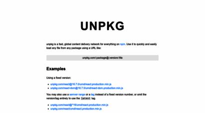 unpkg.com - unpkg