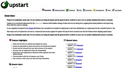 Welcome to Upstart ubuntu com - Upstart - event-based init