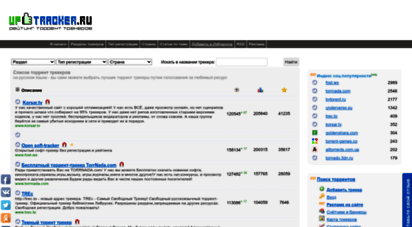 uptracker.ru - торрент трекеры — рейтинг uptracker, список лучших торрентов