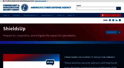 us-cert.gov - homepage  cisa