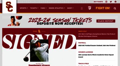 usctrojans.com - usc athletics - official athletics website